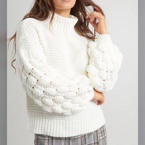 Garage Pink bubble sleeve  sweater
